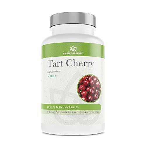 Tart Cherry Extract Supplement, CherryPURE from Montmorency Tart Cherry, 60 Tart Cherry Capsules, USA Grown ()