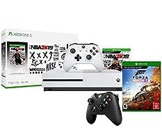 Xbox One S NBA 2K19 Forza Bonus Bundle: NBA 2K 19, Forza Horizon 4, Xbox One S 1TB Console with Extra Wireless Controller