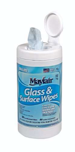 Sellars 99806 Mayfair Glass and Surface Wipes with Pleasant Floral Scent, 8