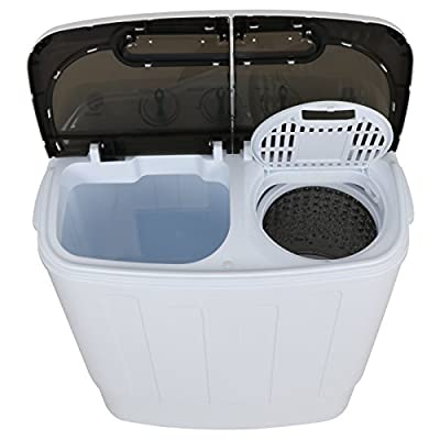ZENY Portable Compact Mini Twin Tub Washing Machine 13lbs Capacity with Spin Cycle Dryer, Lightweight for Apartments, Dorm Rooms