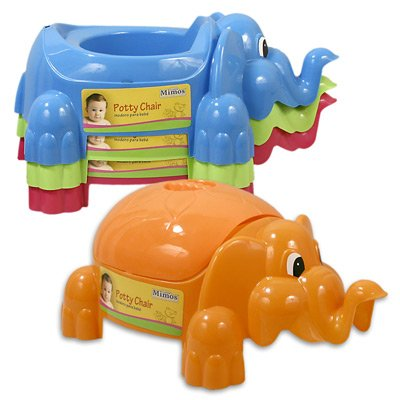 "16""L Plastic Potty Caddy Elephant"