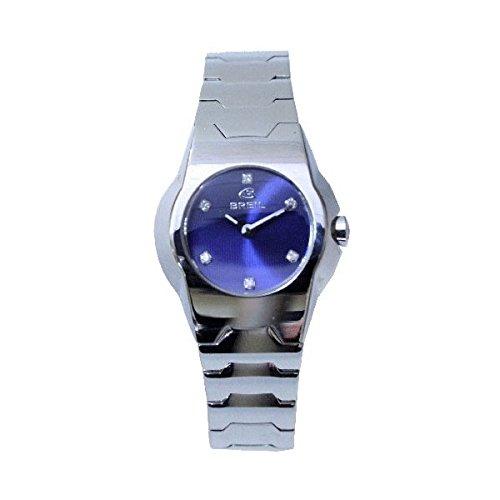 Breil 2519280597 - Reloj para Mujer con Correa de Acero, Color Azul/Gris: Amazon.es: Relojes