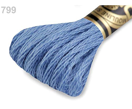 (1pc 799 SkyBlue Light Embroidery Yarn Dmc Mouliné Spécial Cotton, Cord Waxed, Rope Cord, DIY Cord, Mouline, Knitting, Crochet, Haberdashery)