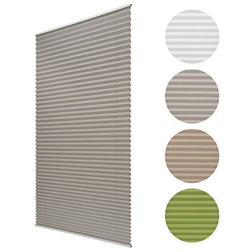 Sol Royal® Plissee SolDecor P25 - 35x100 cm Grau - Klemm-Fix ohne Bohren - Plissee-Rollo Jalousie für Fenster & Türen