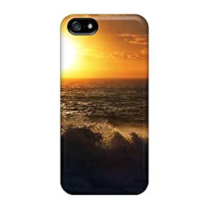 For ZsIatll545SDlyX Sunset Waves Protective Case Cover Skin/iphone 5/5s Case Cover
