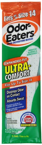 Odor-Eaters, Ultra-Comfort Insoles - 1 pair, 2 Pack (Eaters Odor Insoles)