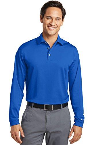 Nike Golf Long Sleeve Dri-FIT Stretch Tech Polo, Blue Sapphire, Large