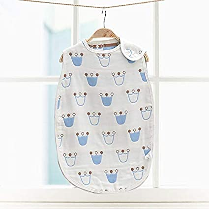 Amazon.com : Baby Sleeping Bag Muslin Pure Cotton Sleep Sack ...
