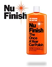 Nu Finish Liquid Car Polish, Better Than Wax, 16 fl oz, White