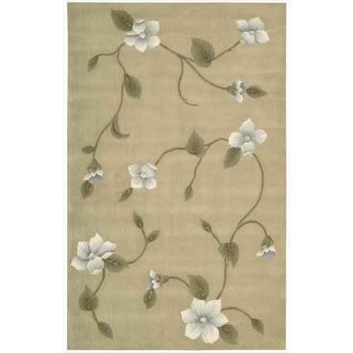 Nourison Julian (JL61) Light Gold Rectangle Area Rug, 5-Feet 3-Inches by 8-Feet 3-Inches (5'3