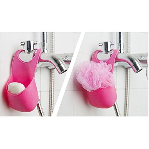 Ayutthaya shop Sponge Holder Portable Tool Bag Kitchen Hanging Basket Vegetable Fruit Sink (ramdom color) ()