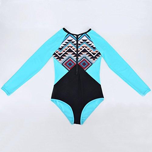 YONGYI playa de la moda europea y americana atractiva del verano del traje de baño 2017 de Europa y América siameses de manga larga de protección solar traje de baño de una sola pieza del bikini cabes