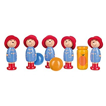 Paddington Bear London Skittles Traditional Wooden Toy Giftwrap Included Birthday Present Age 3