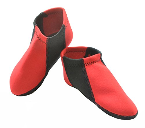 Nufoot Boys Toddler Shoes, Red with Black, Size 9T- 12T by Nufoot