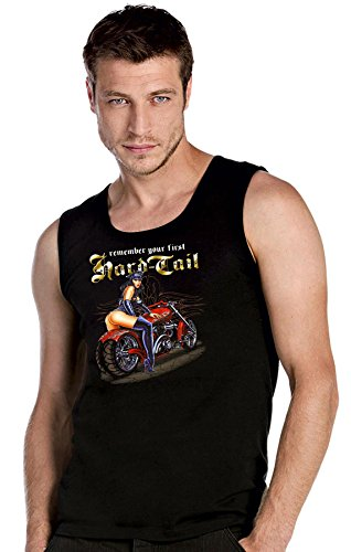 Biker Pinup Custom Harley Custom Bike Chopper schwarze Top Tank T-Shirt -2403