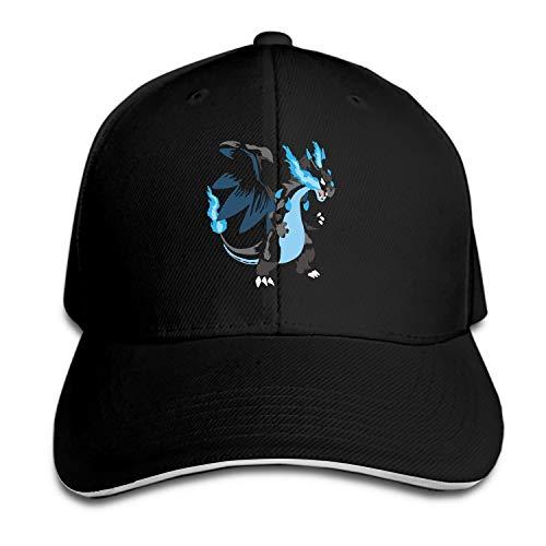 iloue Mega Charizard X Dad Hat Peaked Trucker Hats Baseball Cap for Women Men]()