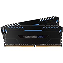 CORSAIR VENGEANCE LED 16GB (2x8GB) DDR4 3000MHz C15 Desktop Memory  - Blue LED