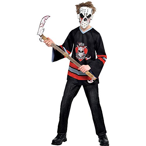 Suit Yourself Bloody Face-Off Hockey Halloween Costume for Boys, Medium, with Accessories]()