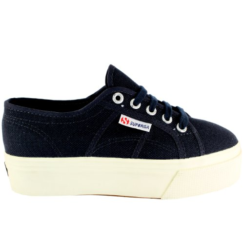 2790 38 Formatori Marine Pattino Plimsoll Casuale Top Pianoform Basso EU Tela Superga Donna f4ZwHH