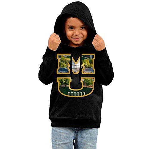 FGFD Toddler University Of MU Logo Missouri Columbia Unisex Hooded Sweatshirt Black Size 3 ()