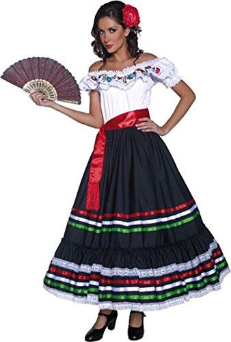 Senorita Costume Uk (Authentic Western Sexy Senorita Costume Medium)