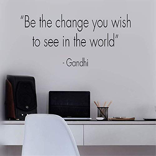Vinyl Wall Decal Wall Stickers Art Decor Be The Change You Wish to See in The World Gandhi for Living Room Bedroom