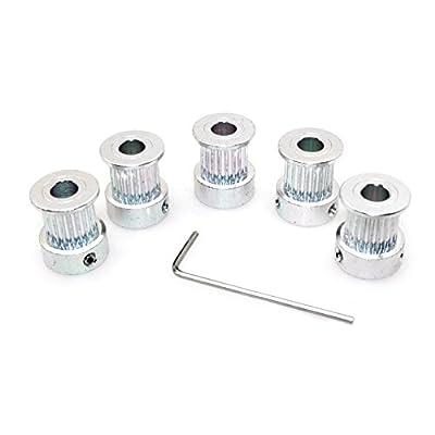 Witbot Aluminum GT2 Timing Belt Pulley 20Teeth bore 6.35mm for RepRap 3D Printer(Pack of 5pcs)