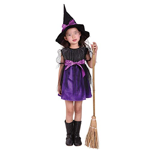JIKF-shirt Halloween Costume for Kids Vampire Witch Princess Kids Children Fancy Dress Costume C -