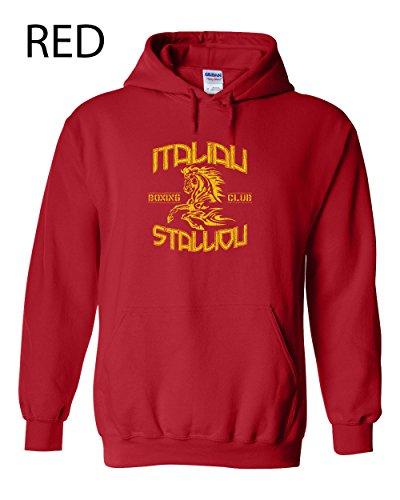 2 Italian Stallion Funny Hooded Sweatshirt Red