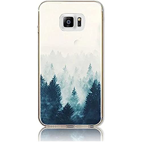 Galaxy S7 Case,Vandot Colorful Printing Perfect Fit Pattern Soft Ultra Slim TPU Silicone Bumper for Samsung Galaxy S7 - Embossing Landscape Pine Tree Retro Sales