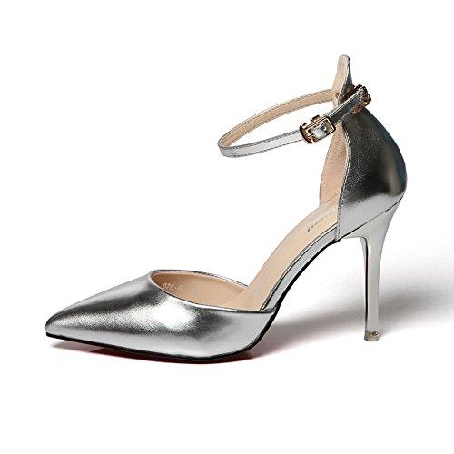 35 Zeppa Argento silver Sconosciuto Con Donna Mmsg00006 Sandali 5 1to9 Eu t4wx0xqUg