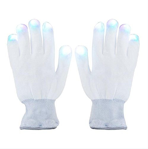Aomeiqi LED Gloves, Finger Light Gloves Colorful 6 Modes for Dance Party Halloween Light Show Rave Cycling -