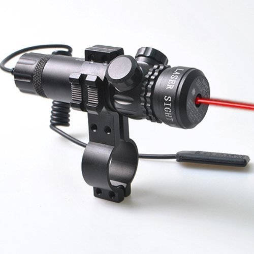 Vokul Red Dot Laser Sight Outside Adjust Rifle Gun Scope 2 Switch Rail Mounts