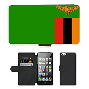 GoGoMobile PU LEATHER case coque housse smartphone Flip bag Cover protection // V00001195 zambia bandera nacional País // Apple iPhone 5 5S 5G
