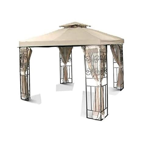 New 10 x 10 feet Replacement Gazebo Canopy Top - Beige  sc 1 st  Amazon.com : gazebo canopy replacement covers 10x10 - memphite.com
