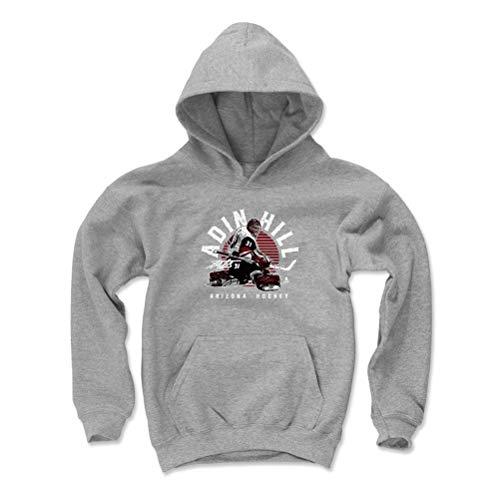 Phoenix Coyotes Sweatshirt - 500 LEVEL Adin Hill Arizona Coyotes Youth Sweatshirt (Kids X-Large, Gray) - Adin Hill Emblem R WHT