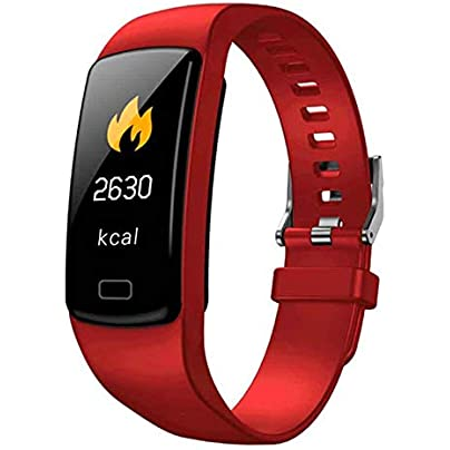 Lopbinte Smart Activity Tracker Band Fitness Bracelet Heart Rate Monitor Blood Pressure Wristbands For Smartphone Smartband Red Estimated Price £8.45 -