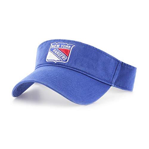 (OTS NHL New York Rangers Male Visor, Royal, One Size)