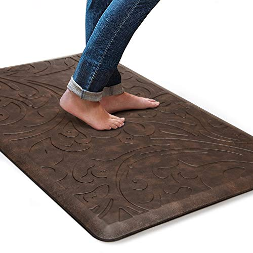 KMAT Kitchen Mat Cushioned Anti-Fatigue Floor Mat Waterproof Non-Slip Standing Mat Ergonomic Comfort Floor Mat Rug for…