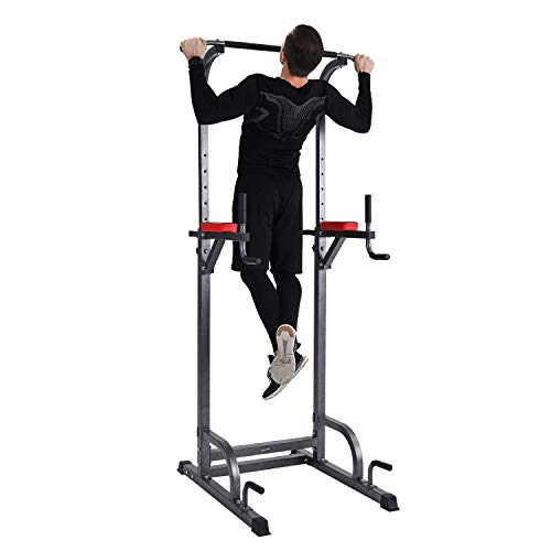 Power Tower Multi-Function Pull Up Bar for Home Gym Workout Dip Station Training Fitness Exercise Equipment