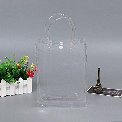 Nuovo Bag Cosmetic borse di trasparente Cancella della wlgreatsp della Tote borsa spalla Vertical Section collezione qd7gnt4