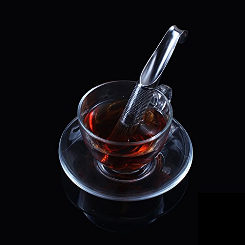 Funnytoday365 Tea Strainer Stainless Steel Tea Infuser Pipe Design Touch Feel Good Holder Tool Tea Spoon Infuser Filter by FunnyToday365 (Image #1)