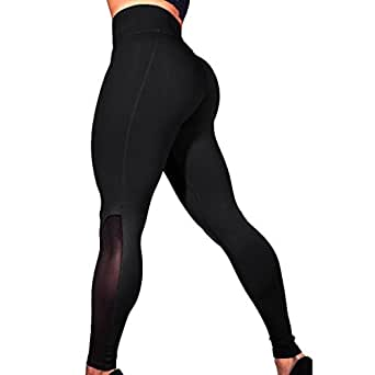 58b8a9174c66c OOEOO Women's Yoga Pants Power Stretch Workout Leggings with High Waist  Tummy Control (Black,