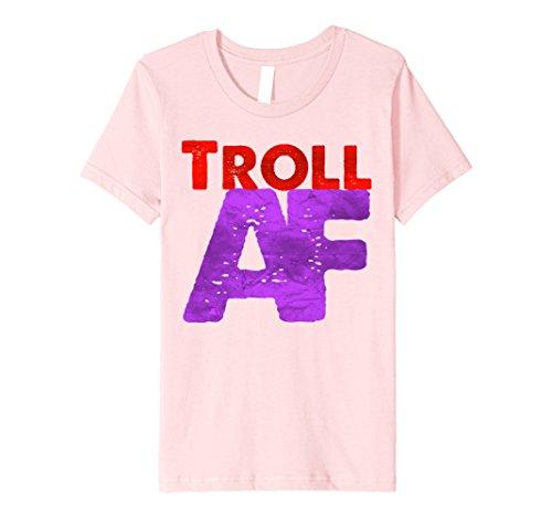 Ratchet Girl Halloween Costume (Kids Troll AF T-Shirt 4 Pink)