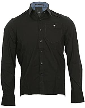 G Star RAW Correct Line Mens Black CL Yale 3D L/S Shirt, Size XXL $150