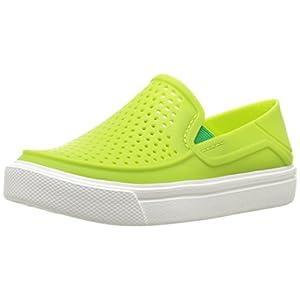 Crocs Kids' Citilane Roka K Flat, Volt Green, 10 M US Toddler