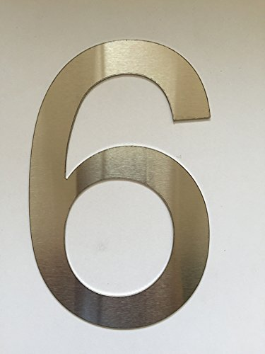 Número Casa / Números y abc numeral cepillado Acero inoxidable (6)