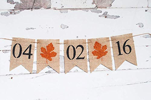 (Fall Save the Date Banner | Engagement Party or Photo Prop)