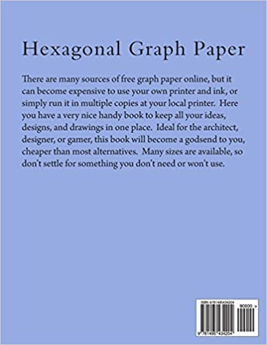 Hexagonal Graph Paper: 1 Inch Hexes, 100 Sheets: Paul M Fleury