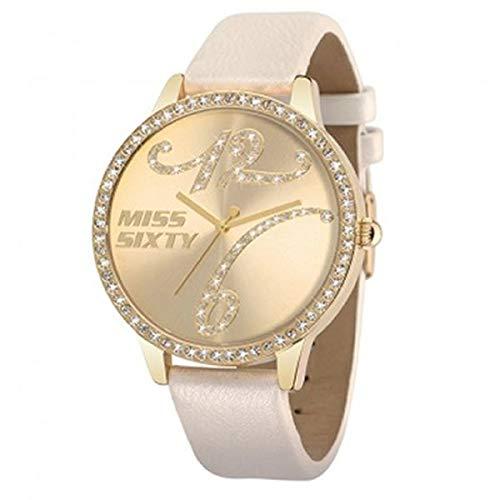 Miss Sixty R0751104506 - Reloj para mujer de piel sintética oro: Amazon.es: Relojes